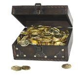 Pirate Treasure Chest with 144 Coins