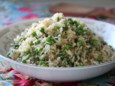 Brown Rice Pilaf with Peas and Dill Recipe - Momtastic