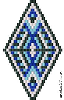 Схемы сережек-ромбиков - мозаичное / кирпичное плетение / Peyote earrings patterns