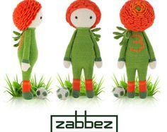 Crochet pattern amigurumi doll Poppy Paola PDF by Zabbez on Etsy