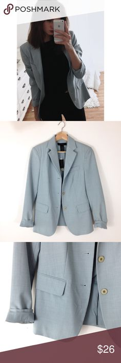 Pale Blue Blazer Simple pale blue blazer from The limited, NWT. Three button closure. Fully lined The Limited Jackets & Coats Blazers