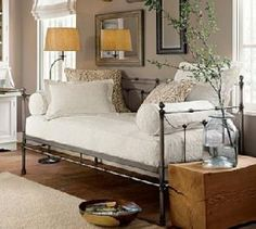 Reading nook becomes extra sleeping space for a guest!