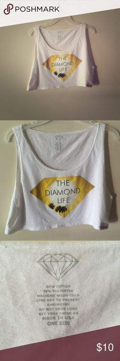The diamond life crop top! Pacsun/ zumiez 💎 Super cute crop top. White, with the diamond life logo on the front. Super cute California themed. One size fits all. Amazing condition! Retailed at 33$ PacSun Tops Crop Tops