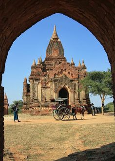 Postcard from Bagan, Myanmar Places Around The World, Around The Worlds, Burma Myanmar, Myanmar Travel, Bagan, Architectural Features, Scenic Photography, Angkor Wat, Beautiful Buildings