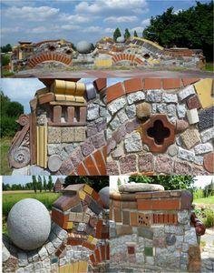 selbst gebaute Mauer mit Details