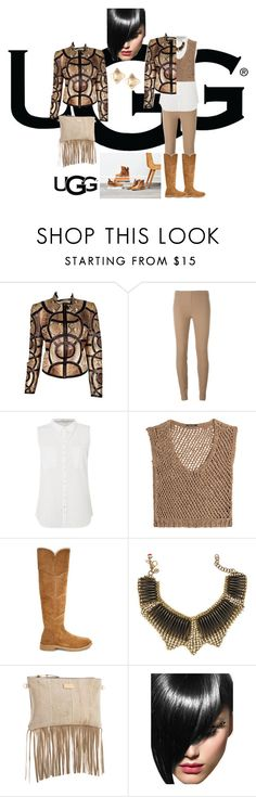 """""""The New Classics With UGG: Contest Entry"""" by prettycarole ❤ liked on Polyvore featuring UGG, Gucci, Joseph, White Stuff, DAMIR DOMA, Sveva, Black & Brown London, Valentino and ugg"""