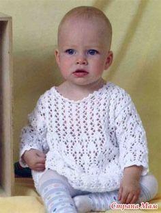 Белое платье (спицами) - Вязание для детей - Страна Мам