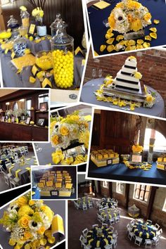 Holly & Michael's Wedding- Navy, Yellow, and Grey.