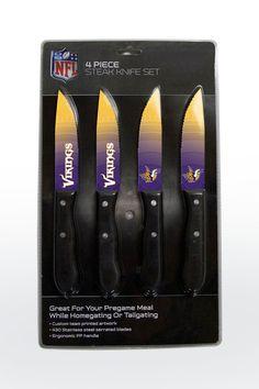 New! Minnesota Vikings Knife Set - Steak - 4 Pack #MinnesotaVikings