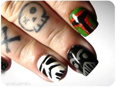 Star Wars nails BUT this site gnarly nails has lots of cool polish and nail designs.