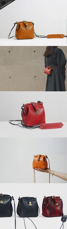 Handmade Leather crossbodybag purse shoulder bag for women