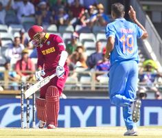 Denesh Ramdin was bowled first ball by Umesh Yadav India vs West Indies, 28th Match, Pool B