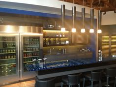 Bar area at the new showroom
