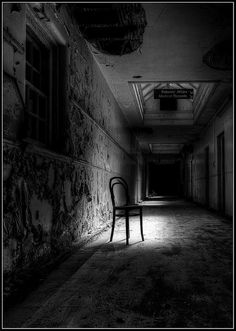 Guarding the Corridor Scary Photography, Inspiring Photography, White Photography, Scary Places, Haunted Places, Dark Hallway, Creepy Images, Scary Art, Dark Pictures
