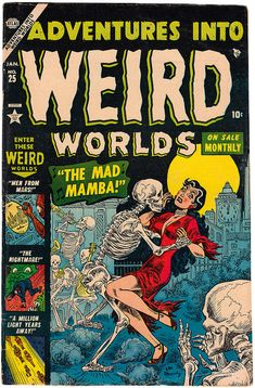 Adventures Into Weird Worlds - Issue No. 25, January 1954.    Cover art by Joe Maneely.