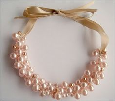 pearl cluster necklace tutorial