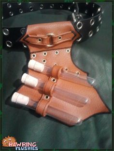 The Alchemist's Holster - A Belt Holster for Boffer Weapons. €12.00, via Etsy.