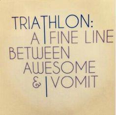 Triathlon fine line