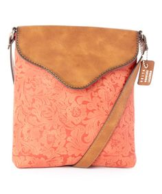 Look at this #zulilyfind! Coral Embossed Crossbody Bag by I Love Accessories #zulilyfinds
