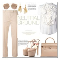 """""""November 8, 2016-.3.-"""" by adriianne ❤ liked on Polyvore featuring MaxMara, Chloé, Marni, Gucci, Christian Dior, Alexander Wang, Pumps, neutrals, pants and Fall2016"""