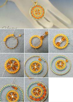 "Perlenstickerei ""M."" & # s Photos # photos # perlenarbeiten - DIY Jewelery b . - Home Decor -DIY - IKEA- Before After Bead Jewellery, Seed Bead Jewelry, Wire Jewelry, Seed Beads, Jewelry Bracelets, Jewelry Making Tutorials, Beading Tutorials, Beading Ideas, Beaded Jewelry Patterns"
