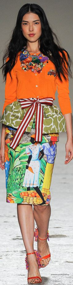Spring 2015 Ready-to-Wear Stella Jean ~African fashion, Ankara, kitenge, African women dresses, African prints, African men's fashion, Nigerian style, Ghanaian fashion ~DKK