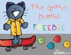 Pete the Cat and His Four Groovy Buttons - subtraction emergent reader FREEBIE