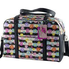 Betsey Johnson Quilted Flowered Weekender Travel Large Duffel Bag Stripe | Clothing, Shoes & Accessories, Women's Handbags & Bags, Handbags & Purses | eBay!