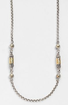 'Classics' Two-Tone Hammered Station Necklace