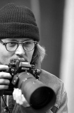 Johnny Depp: John Christopher Depp II (born June using Nikon Johnny Depp, Here's Johnny, Nikon, Caroline Dhavernas, Classic Camera, Photography Camera, Passion Photography, Portraits, Pictures Of People