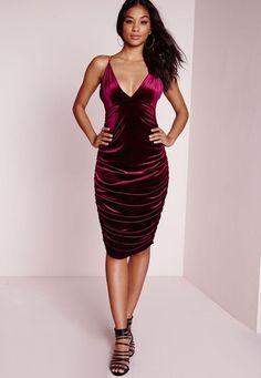 Image result for burgundy dress ruching