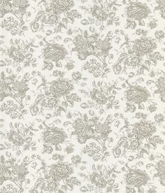 A shimmering taupe ink elevates this floral toile design to cosmic echelons of chic. A timeless French toile style wallpaper, this pattern blooms sophistication