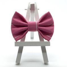 Pretty Pink Pinstripe Hair Bow
