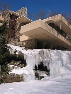 Falling Water designed by Frank Lloyd Wright