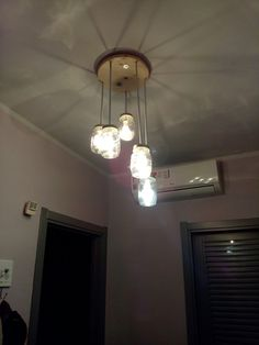 Il nostro splendido lampadario!!!!! Made in home