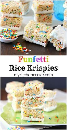 Funfetti Rice Krispie Treats ~ mykitchencraze.com ~ An easy and yummy treat that everyone will love!