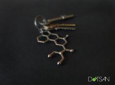 LSD Molecule KeyChain 3d printed