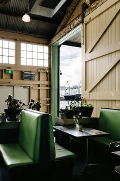 B Shed Café at Fremantle's Victoria Quay #diner #boothseating
