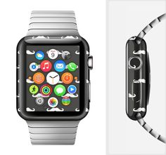 The Mustache Galore Full-Body Skin Set for the Apple Watch