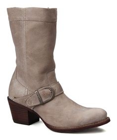 Look at this #zulilyfind! Light Taupe Philly Leather Boot #zulilyfinds