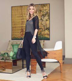 Look de hoje. Adoro usar calça skinny com uma terceira peça como um blazer ou tricô. O look todo é @amarofashion