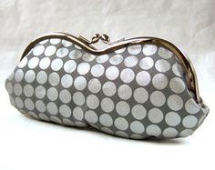 silver+dots+on+gray+eyeglass+case+by+oktak+on+Etsy,+$30.00