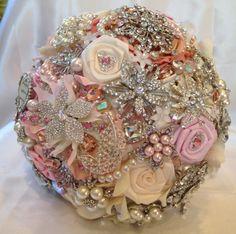 Brooch Bouquet. Deposit on made to order White by NatalieKlestov, $55.00