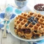 Oatmeal Blueberry Waffles
