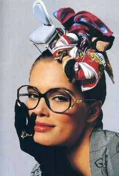 monsieur-j: glovering Dior Eyewear S/S 1988 Campaign - Dior Eyeglasses - Trending Dior Eyeglasses. - monsieur-j: glovering Dior Eyewear S/S 1988 Campaign Natalia Vodianova, Lily Aldridge, Laetitia Casta, Claudia Schiffer, Cindy Crawford, John Galliano, Turbans, Heidi Klum, 80s Fashion