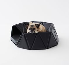 Nendo's three-piece Heads or Tails collection consists of a dog bed, dishes and toys, all of which can be used in two ways