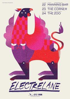 Electrelane Tour Poster Design by WBYK