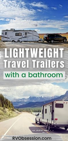 These lightweight travel trailers mean that you can hit the road without having to upgrade to a bigger truck to tow your RV. #lightweighttraveltrailers #lighttraveltrailers | Ultralite travel trailers | Lightweight caravans | Lite travel trailers Ultra Light Travel Trailers, Small Travel Trailers, Rv Travel, Lightweight Travel Trailers, Airstream Sport, Kz Rv, R Pod, Small Rv