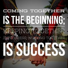 We can do so much together! #hotcheer ❤️