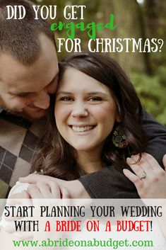 Did you get engaged for Christmas? It's not too early to start planning your wedding with A Bride On A Budget! Check out this what to do before you say I do post from www.abrideonabudget.com.